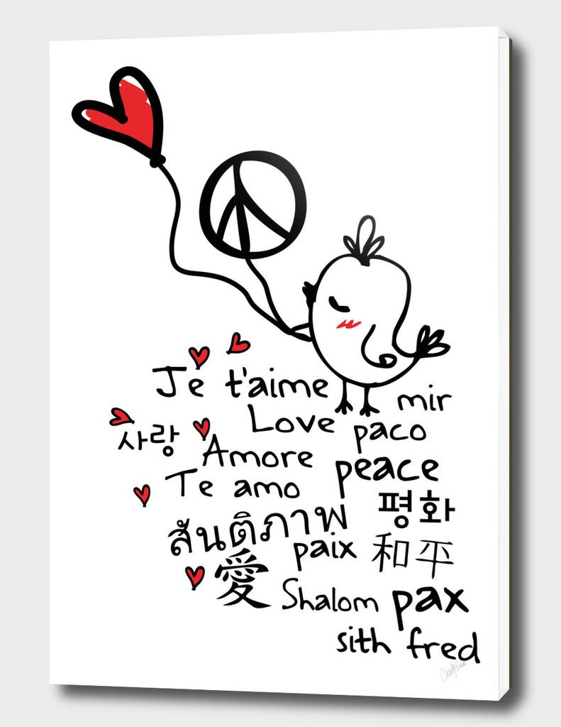 peace and love bird