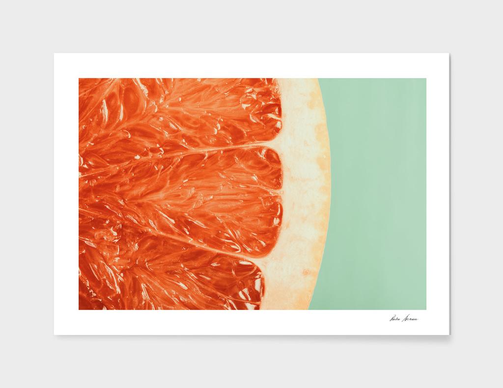 Blood Orange Fruit Slice