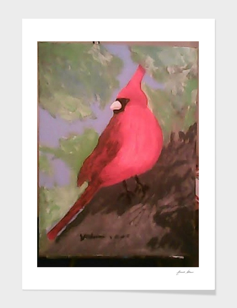 Abstract Red Cardinal
