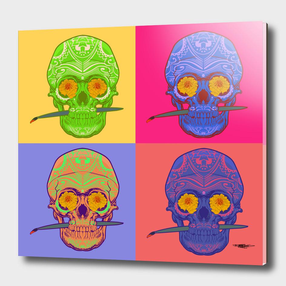 colored boxed skulls_artprint