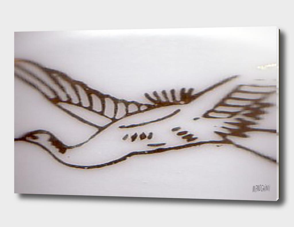 Bird  on sky ( 1 )