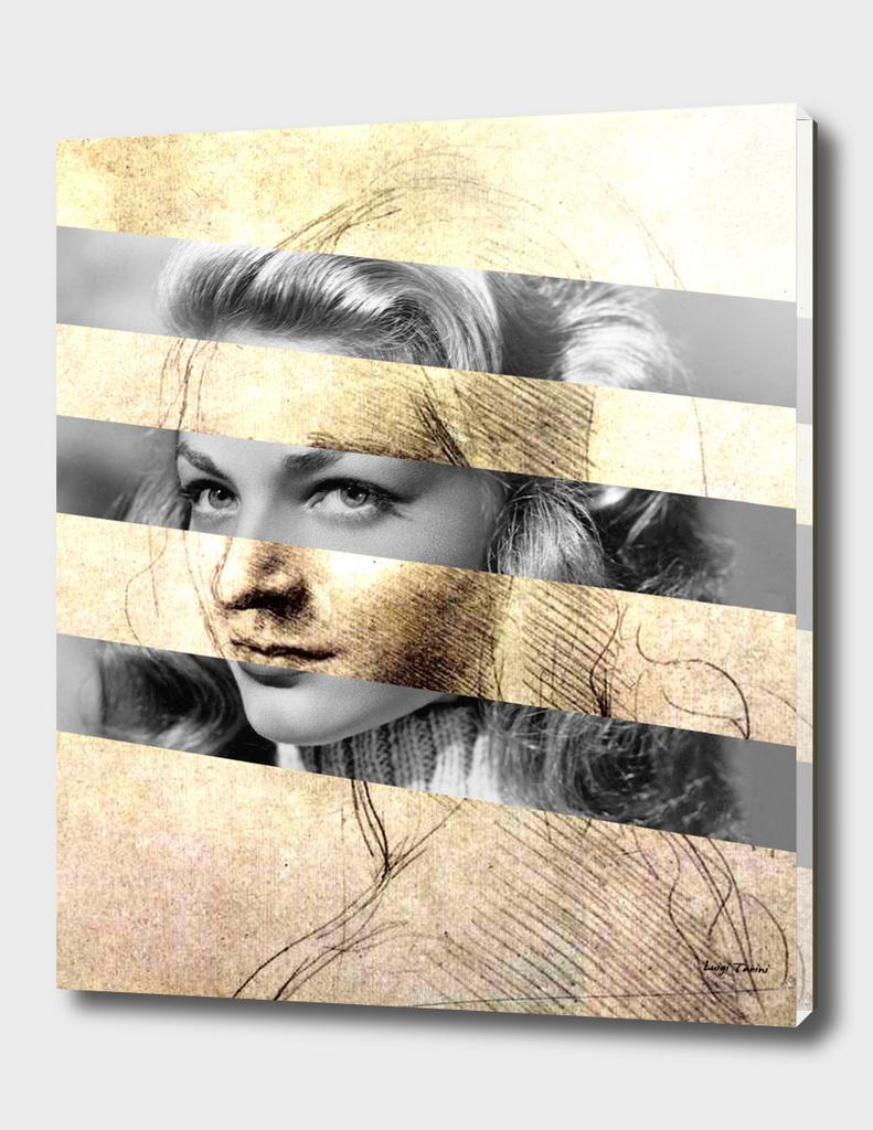 "Leonardo Da Vinci's ""Head of a Girl"" & Lauren Bacall"