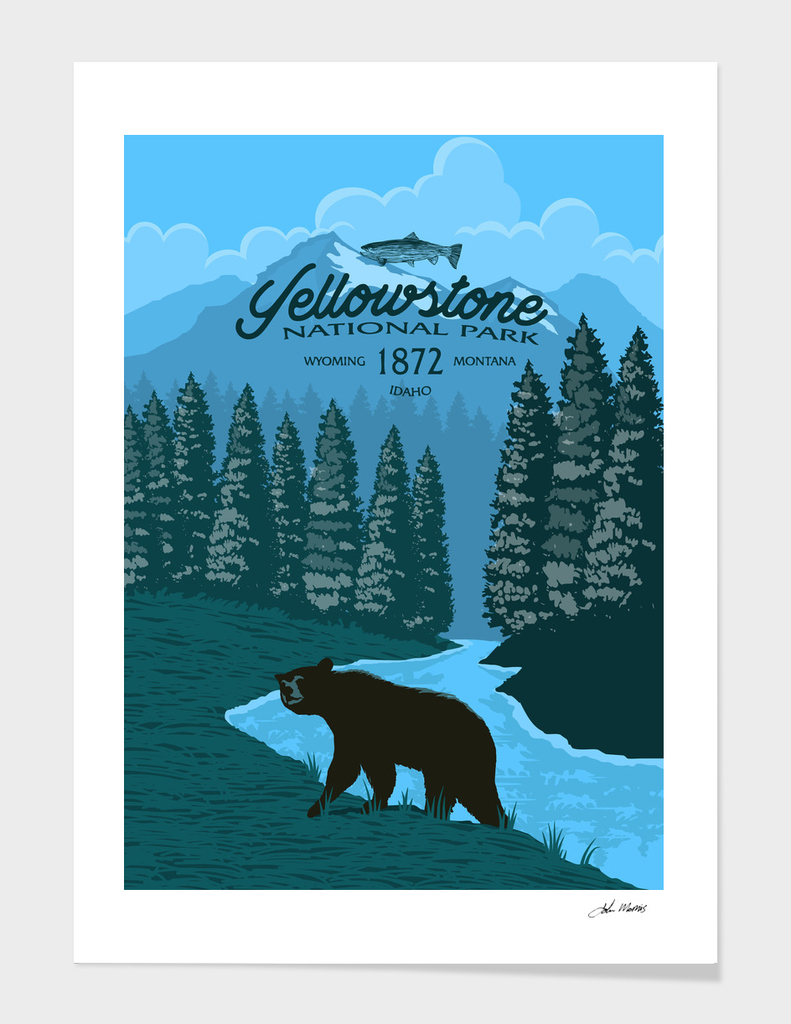 Yellowstone Bear Poster
