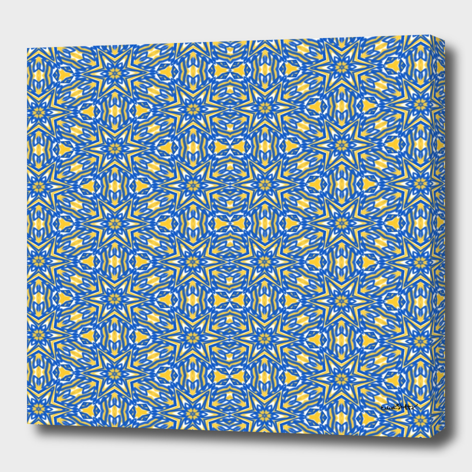 Yellow, white and blue stars 7239