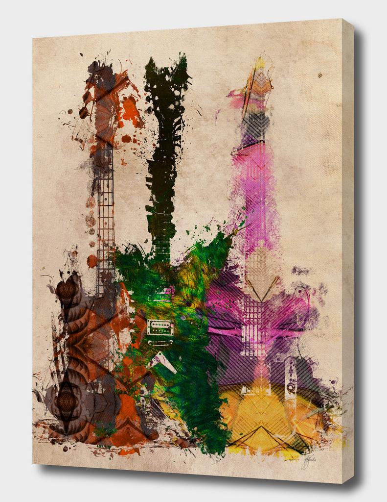3 guitars art