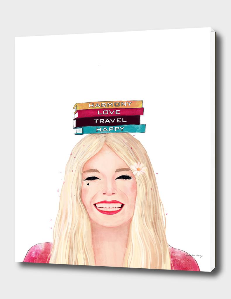 Happy blonde