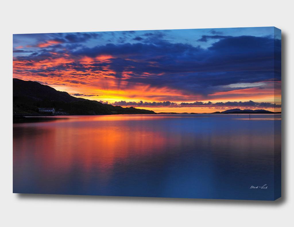 Sundown in Vennesund, Norway
