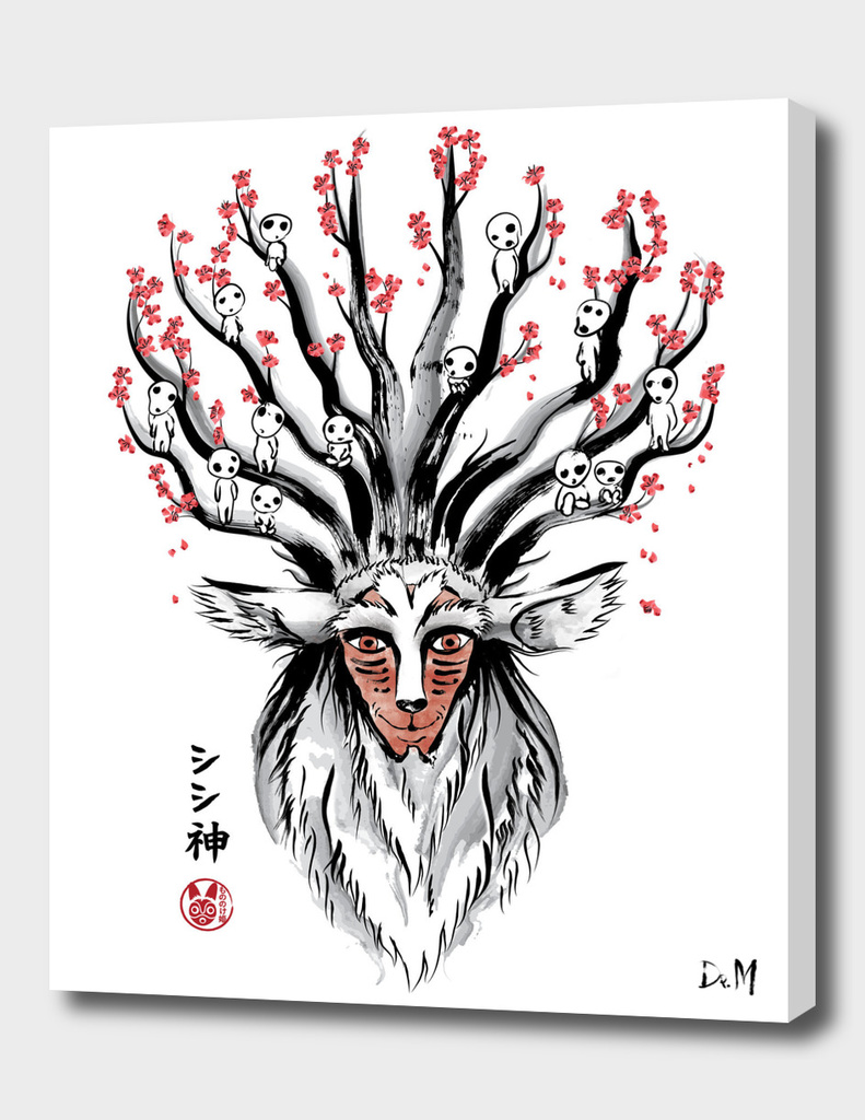 The Deer God Sumi-e