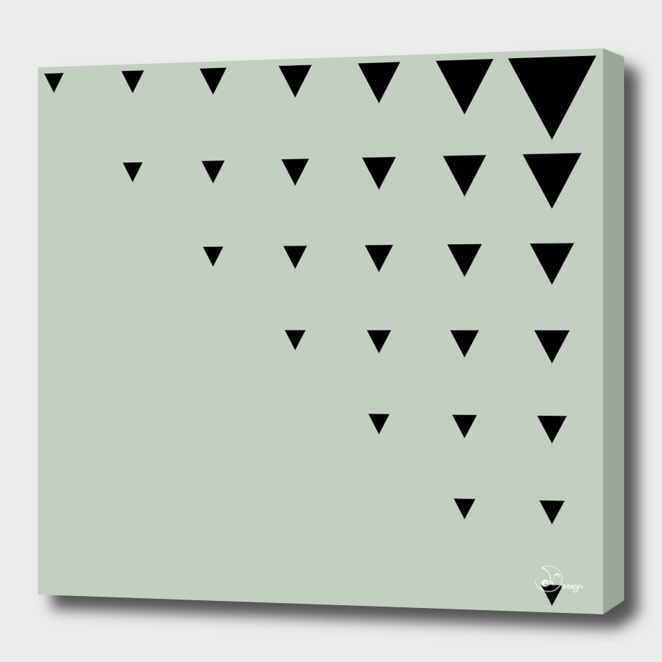 Black Triangles on Grey-Green