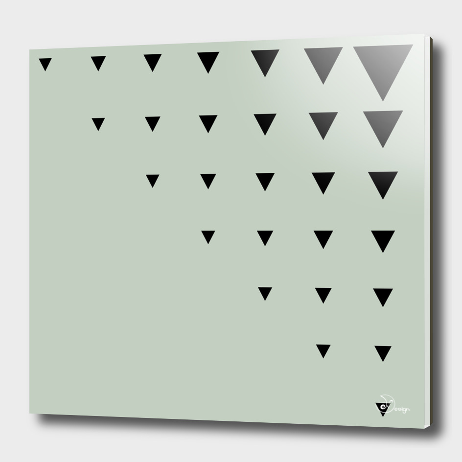 Black Triangles on Grey-Green