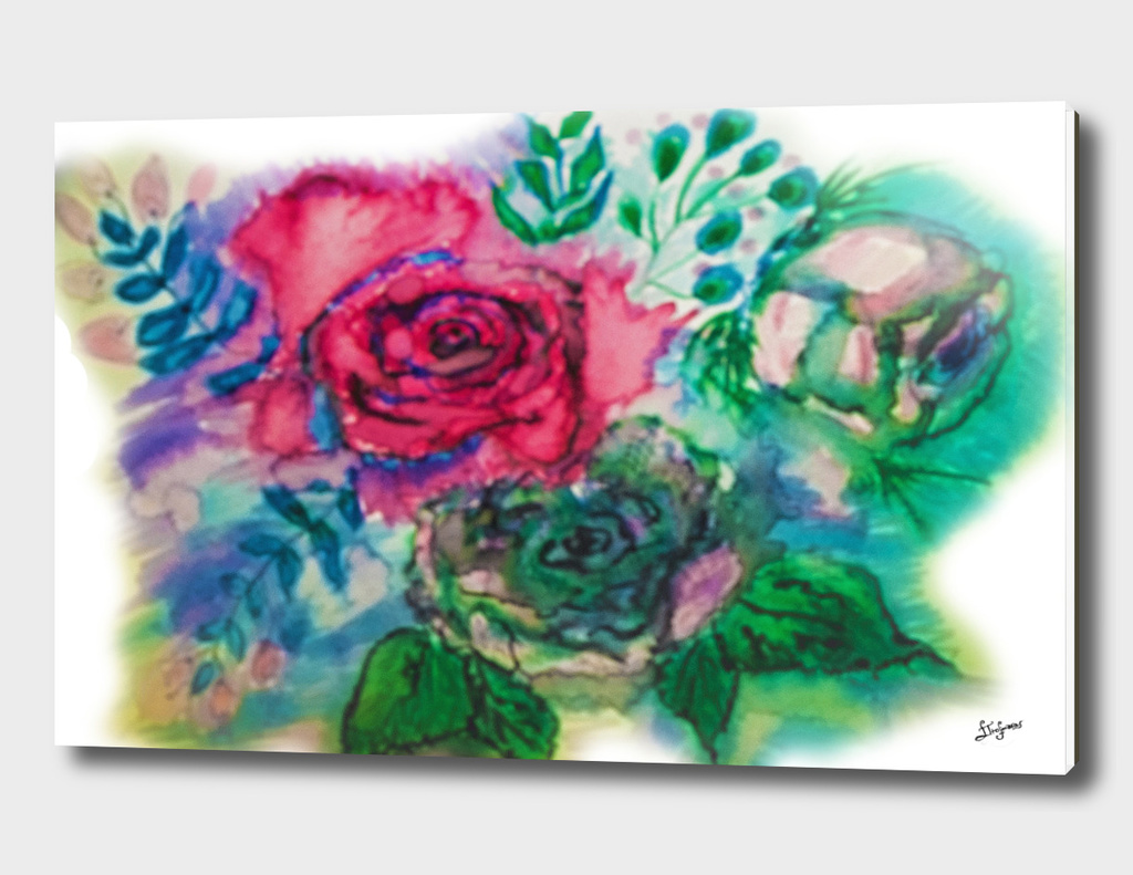 roses frozen