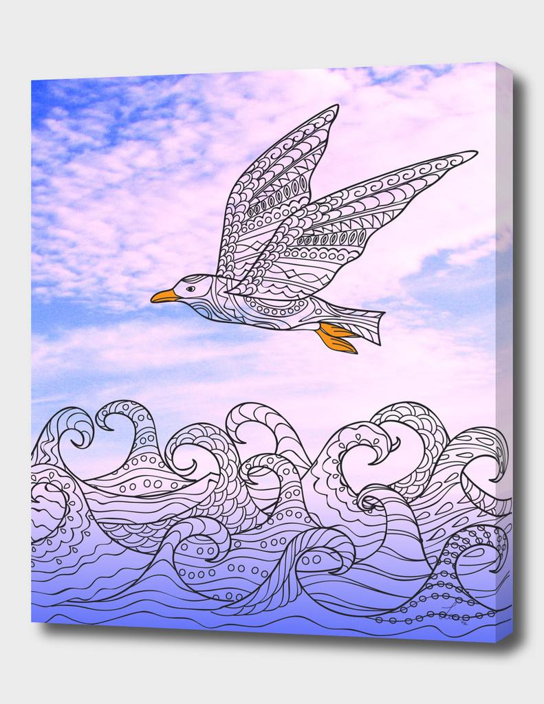 sea bird artwork