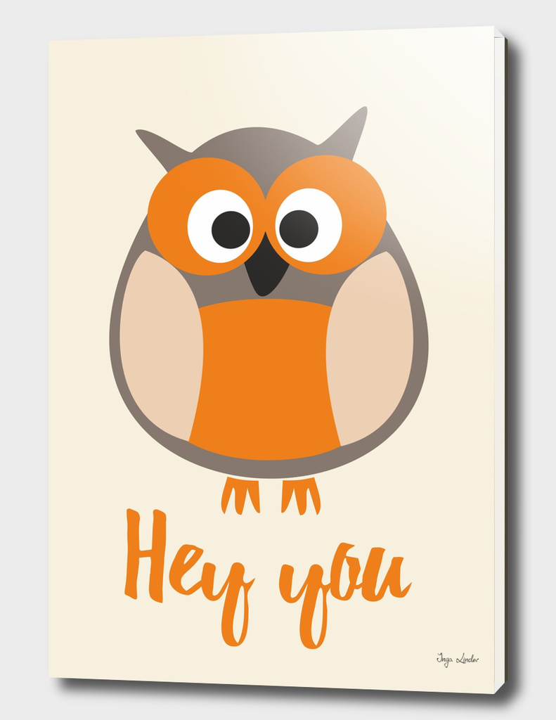 Hey you! Sweet poster with owl.