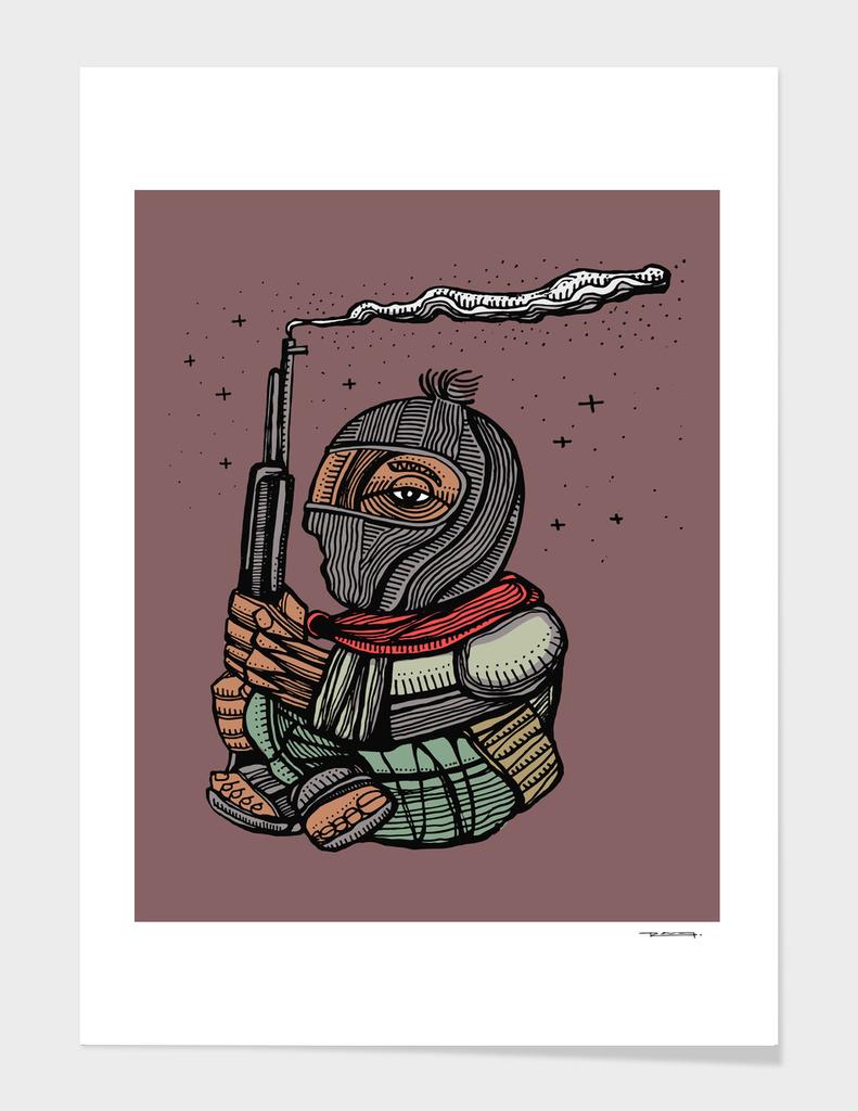 Zapatista rebel mexican soldier