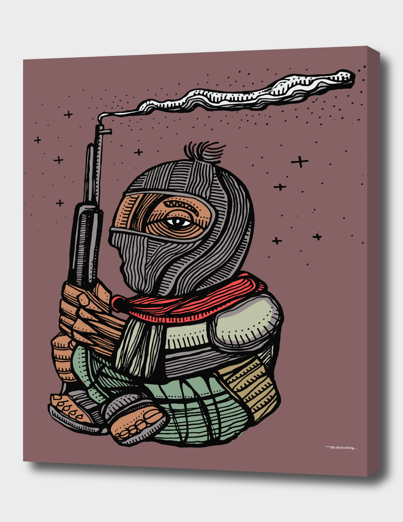 Zapatista rebel mexican soldier