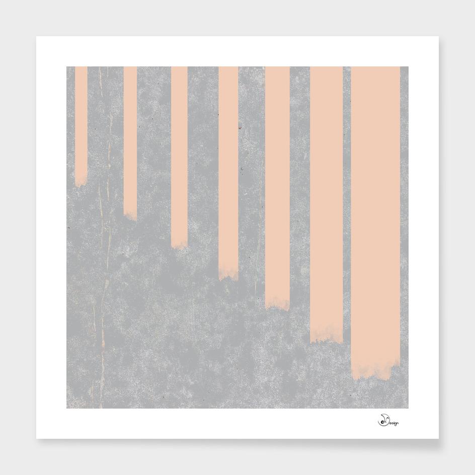 Blush stripes on concrete