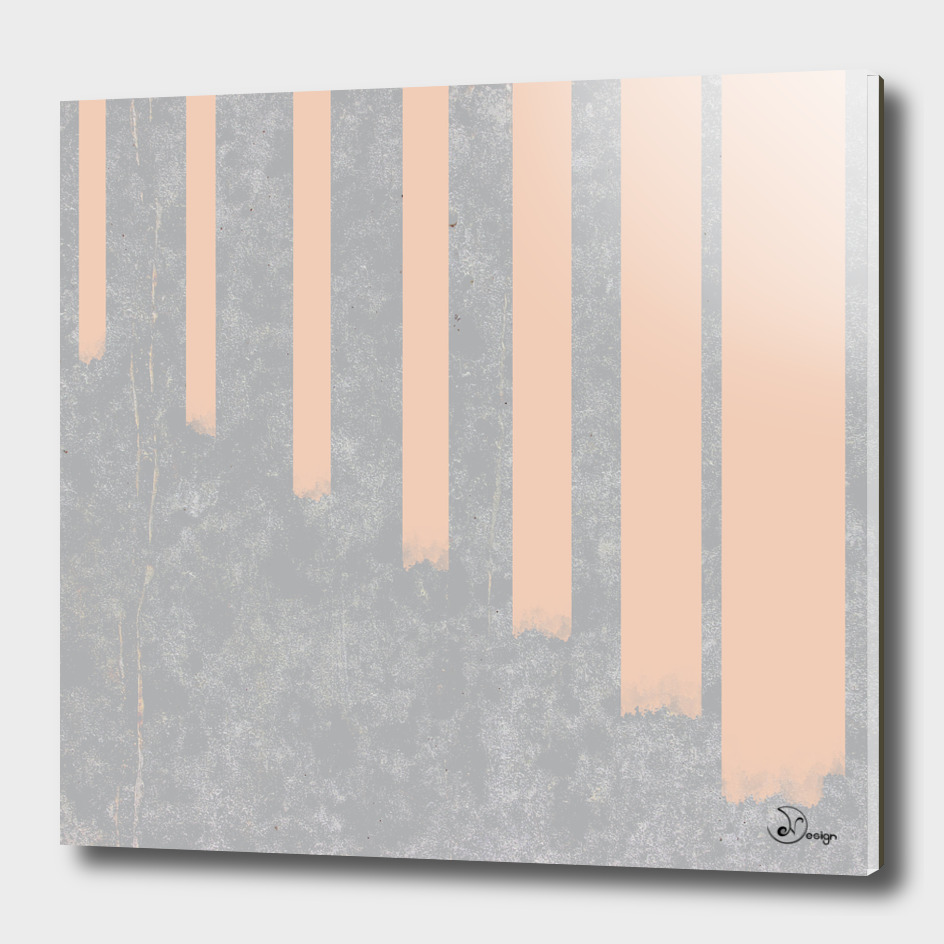 Blush stripes on concrete