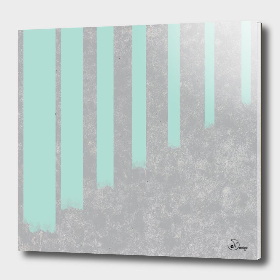 Soft cyan stripes on concrete
