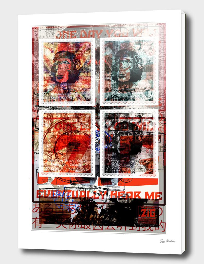 ZiG Stamped 4 chimps