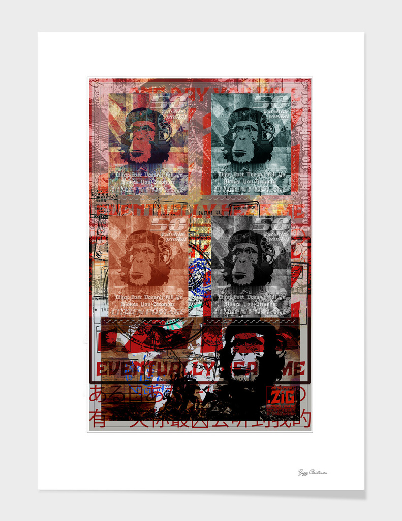 ZiG Stamped 4 chimps (Apocalypse Edition)
