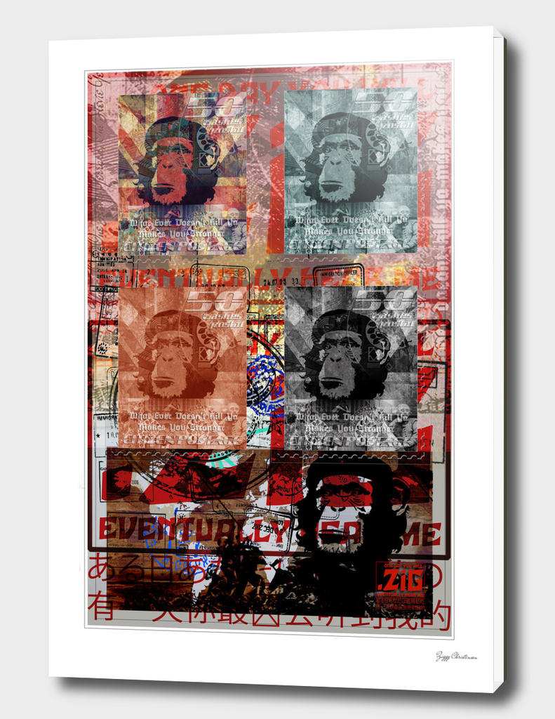 ZiG Stamped 4 chimps (Apocalypse Edition)