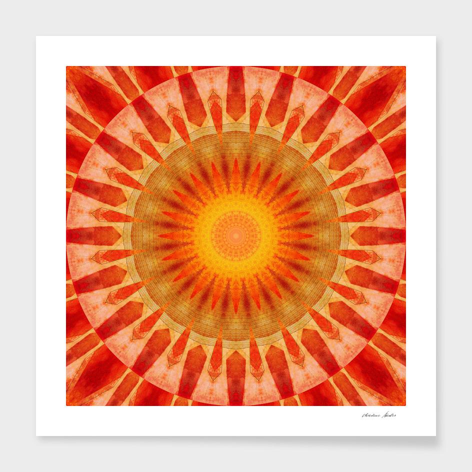 Mandala sunset