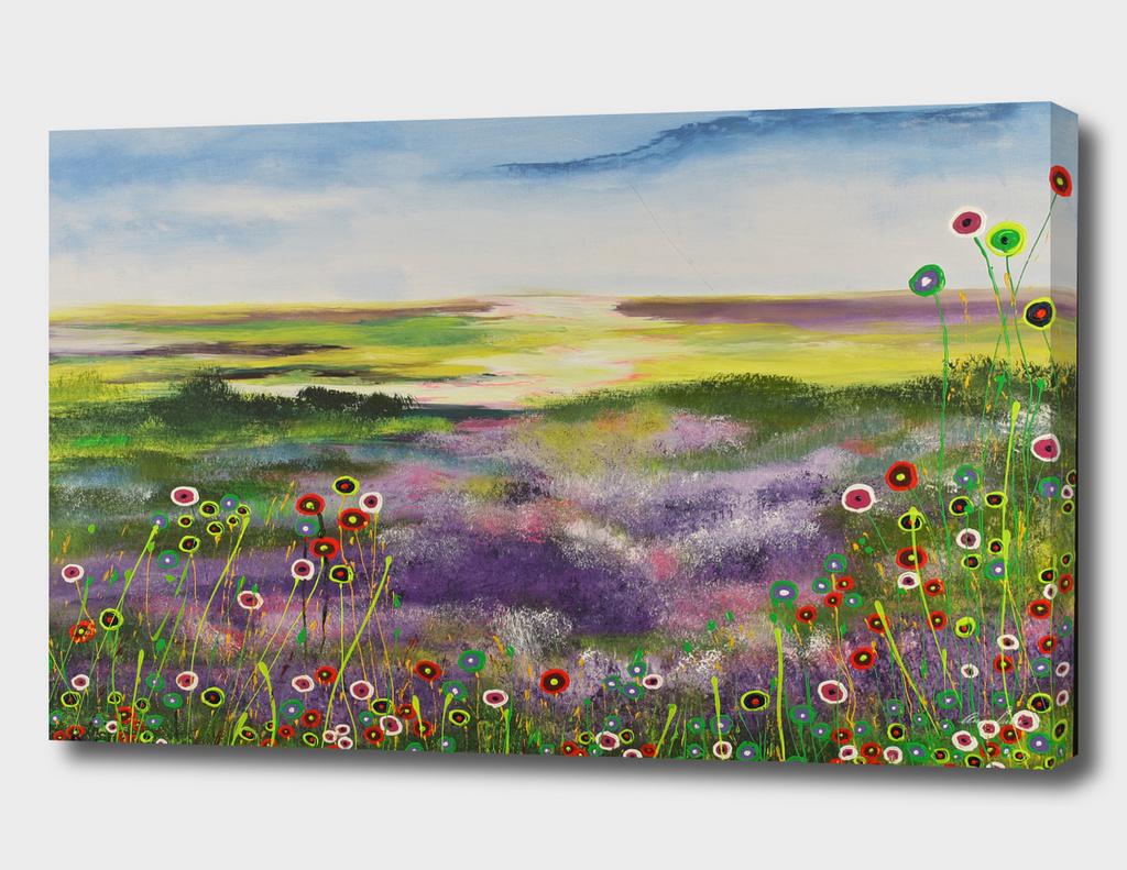 Purple fields /landscape