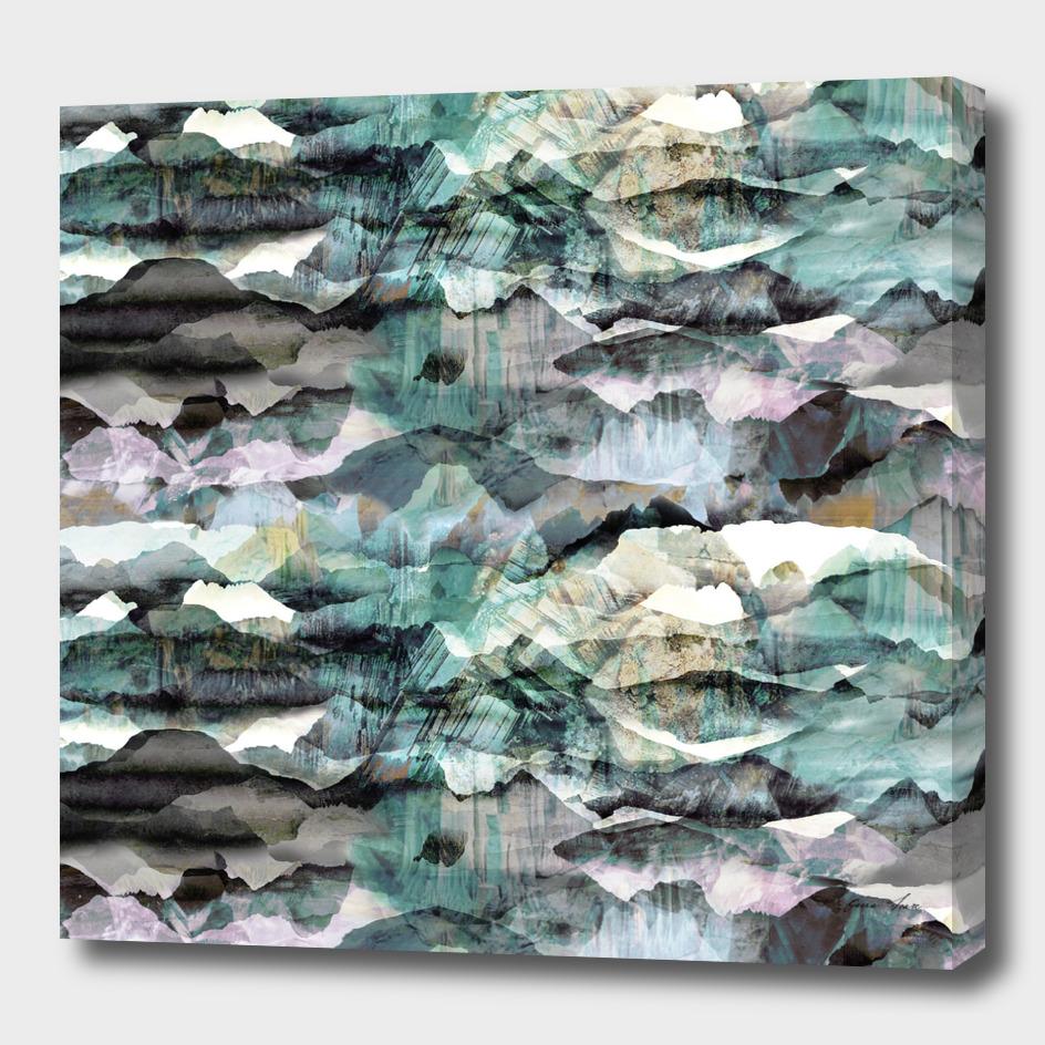 Mountain Painted Landscape