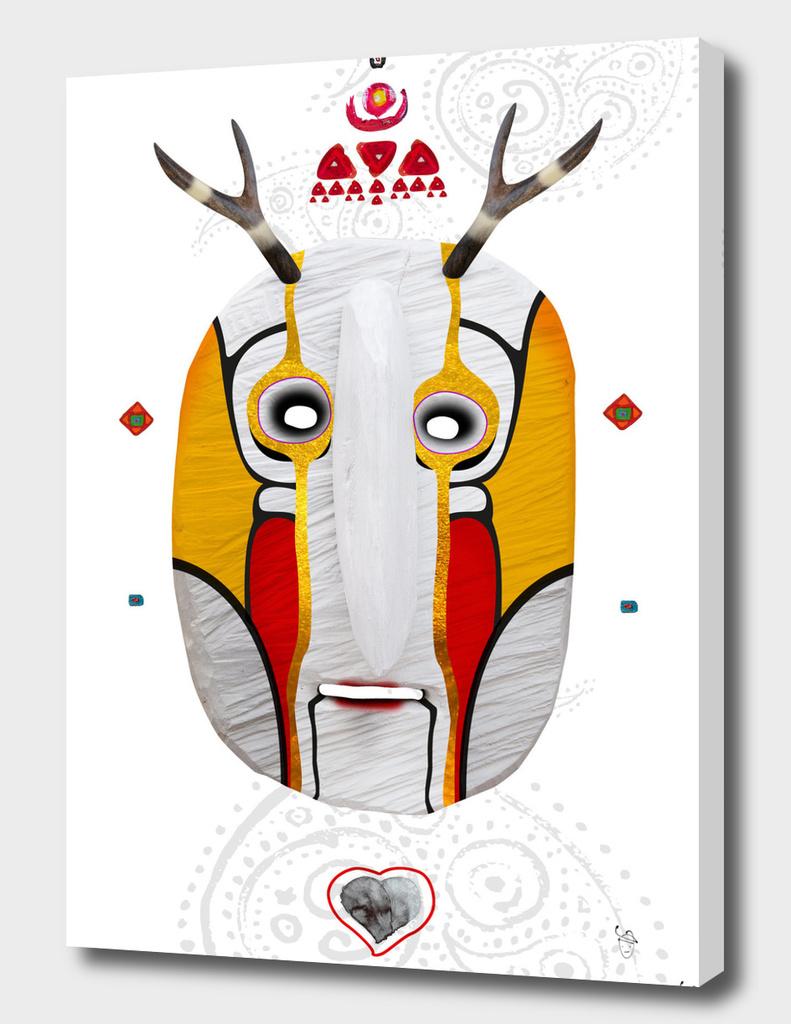 Deer man mask white