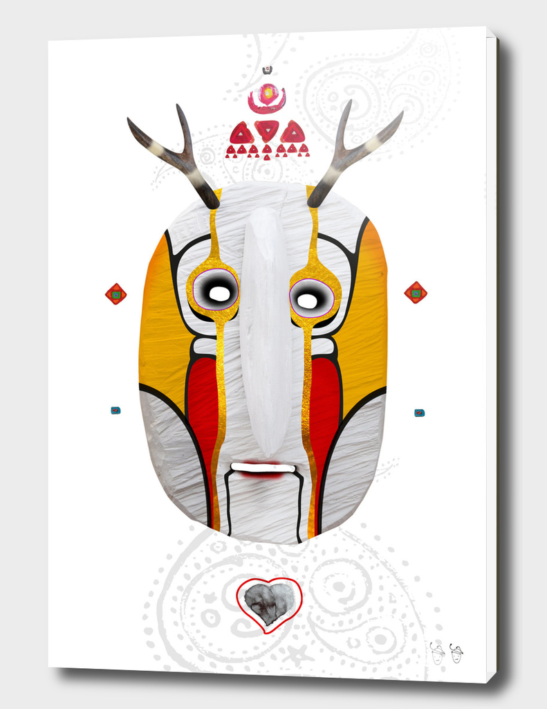 Deer man mask white