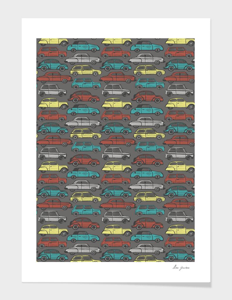 Colorful retro cars
