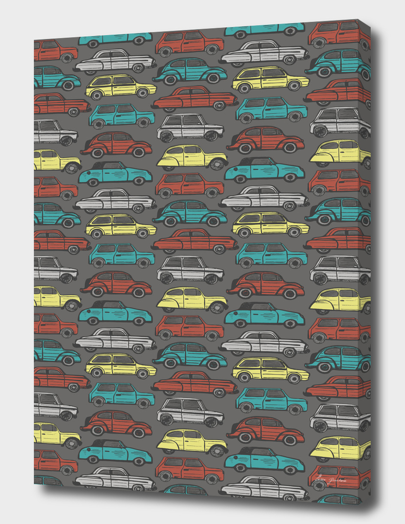 Colorful retro cars