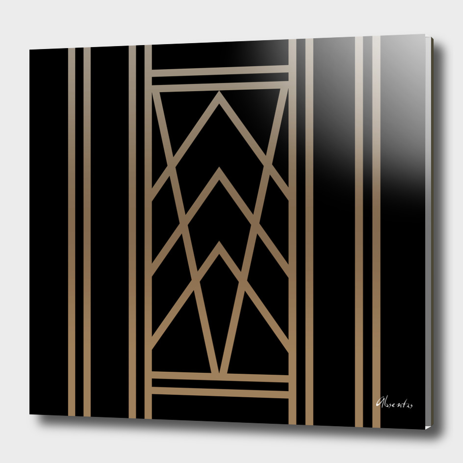 Black and Gold Art Deco