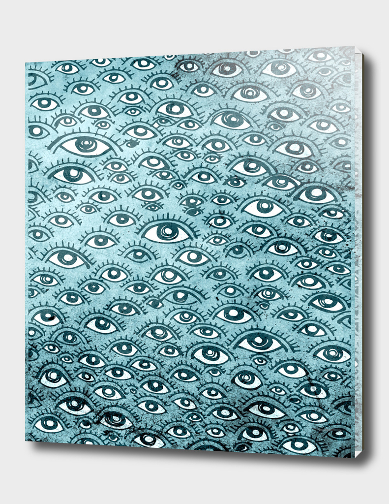 Human eyes pattern illustration