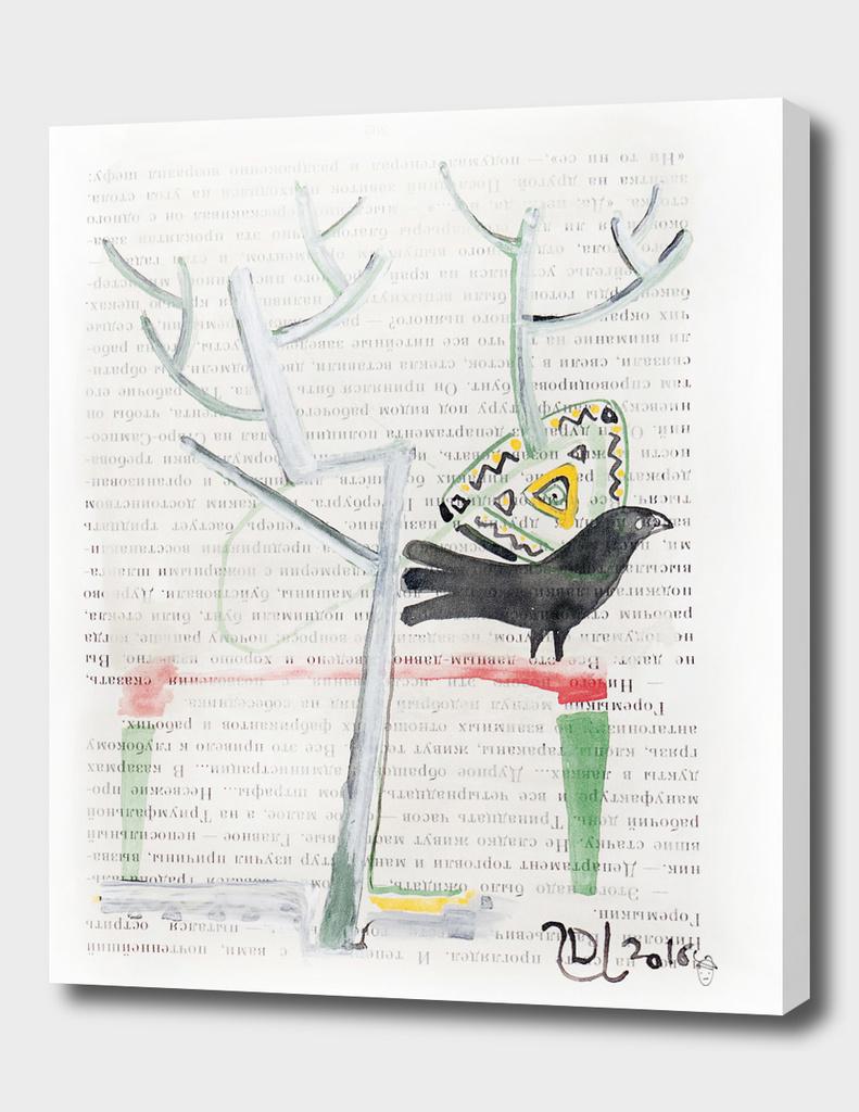 Bird at the tree