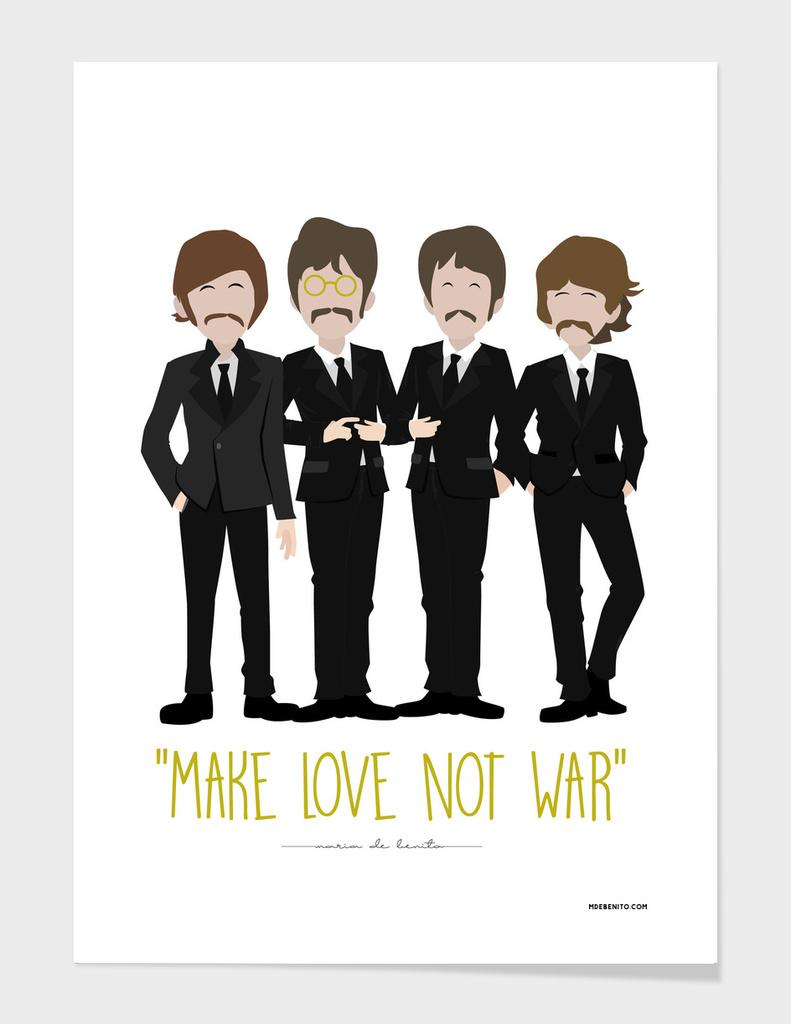 """The Beatles """"Make love not war"""""""