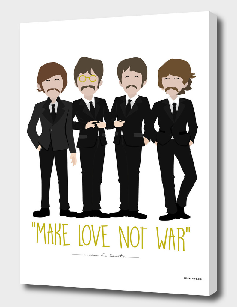 "The Beatles ""Make love not war"""