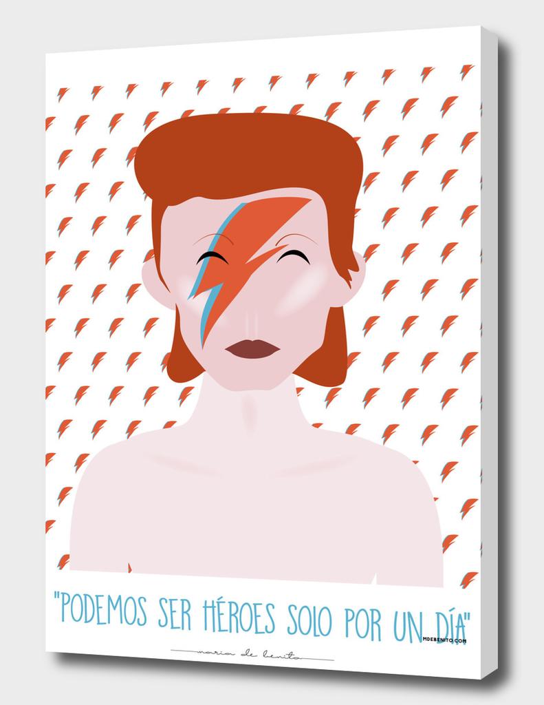 """David Bowie """"Podemos ser héroes solo por un día"""""""