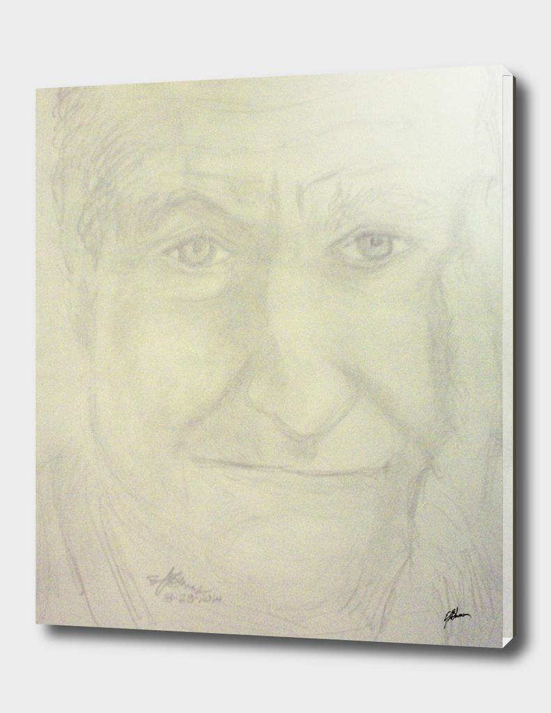 Self portrait of Robin Williams