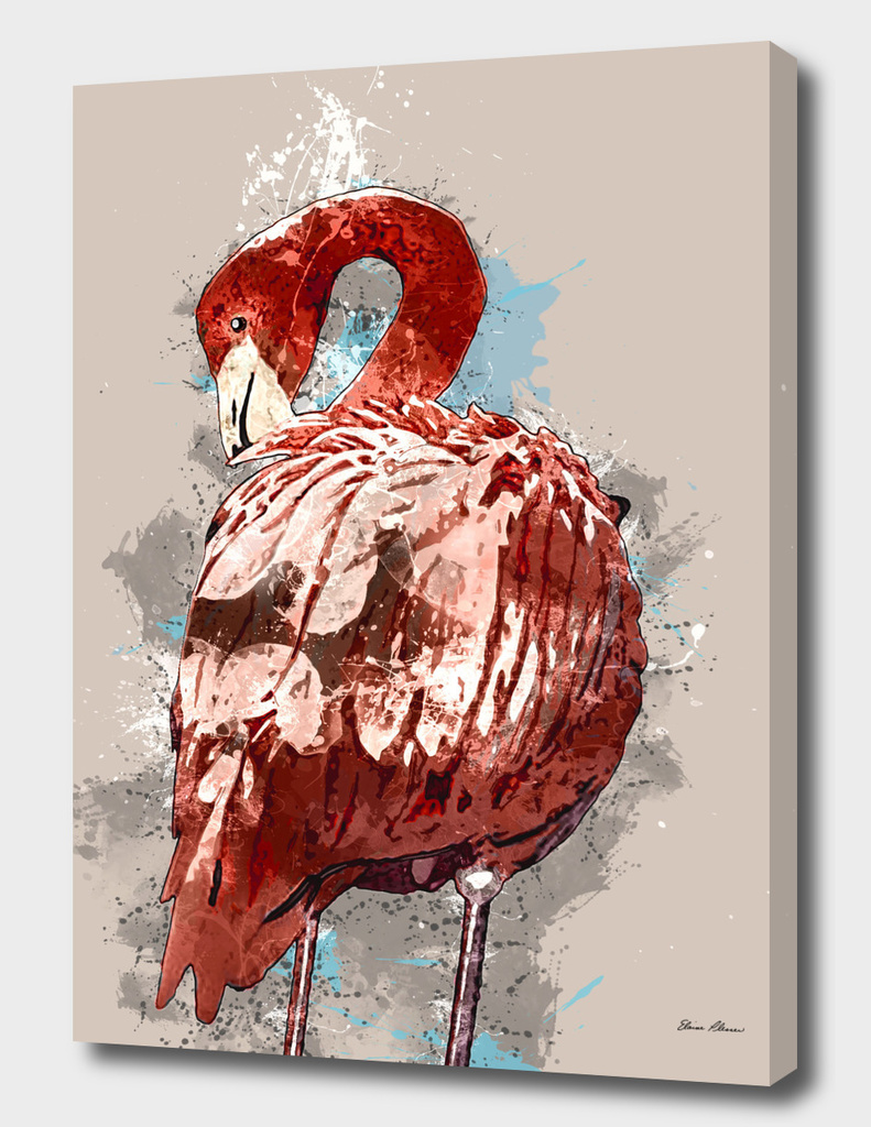 Flamingo Splatter Paint