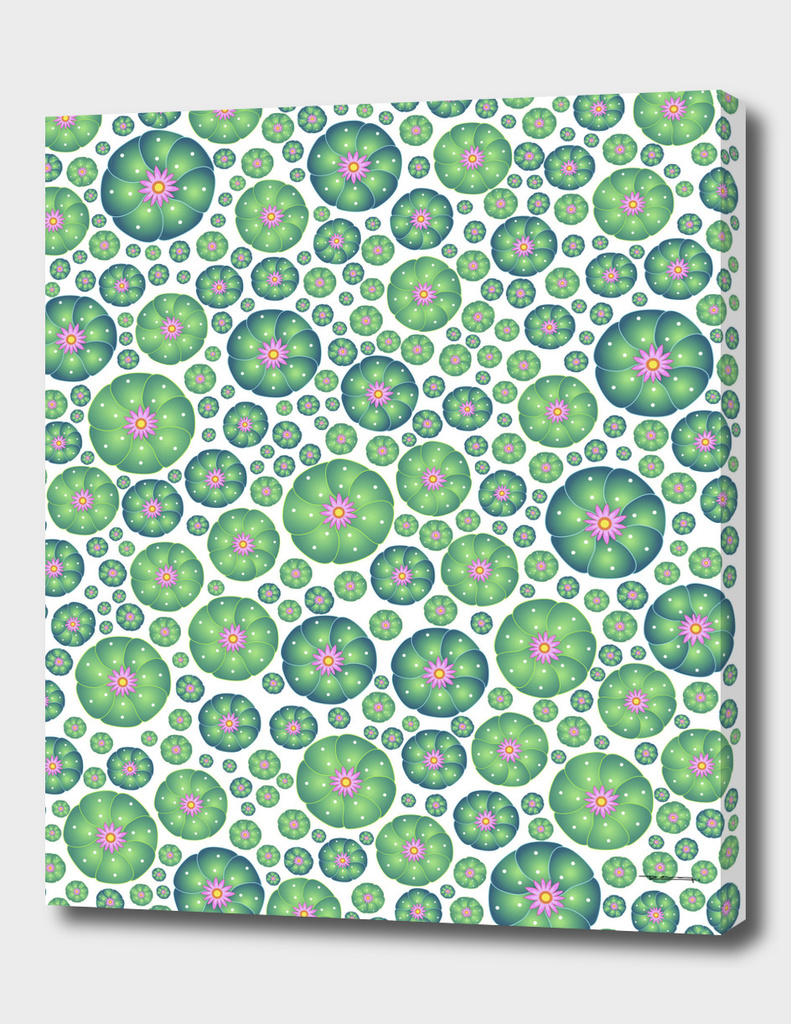 Peyote cactus plant pattern illustration