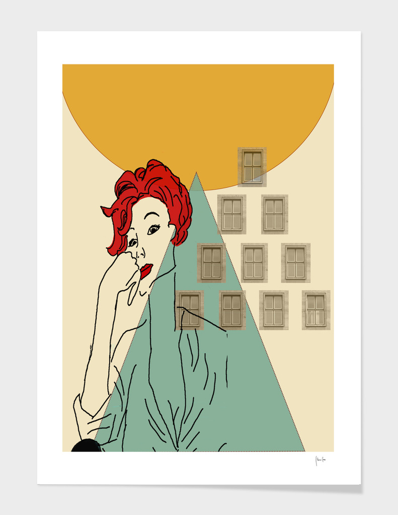 Perfect Portrait of a Woman with Red Hair