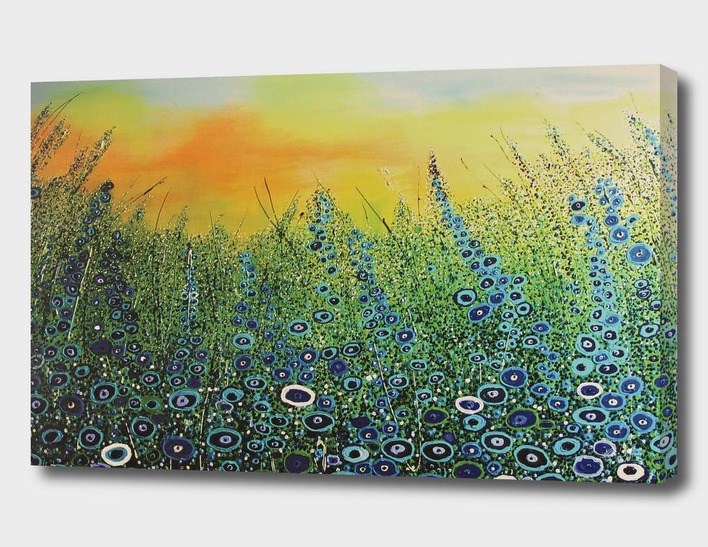 Flower symphony in blue