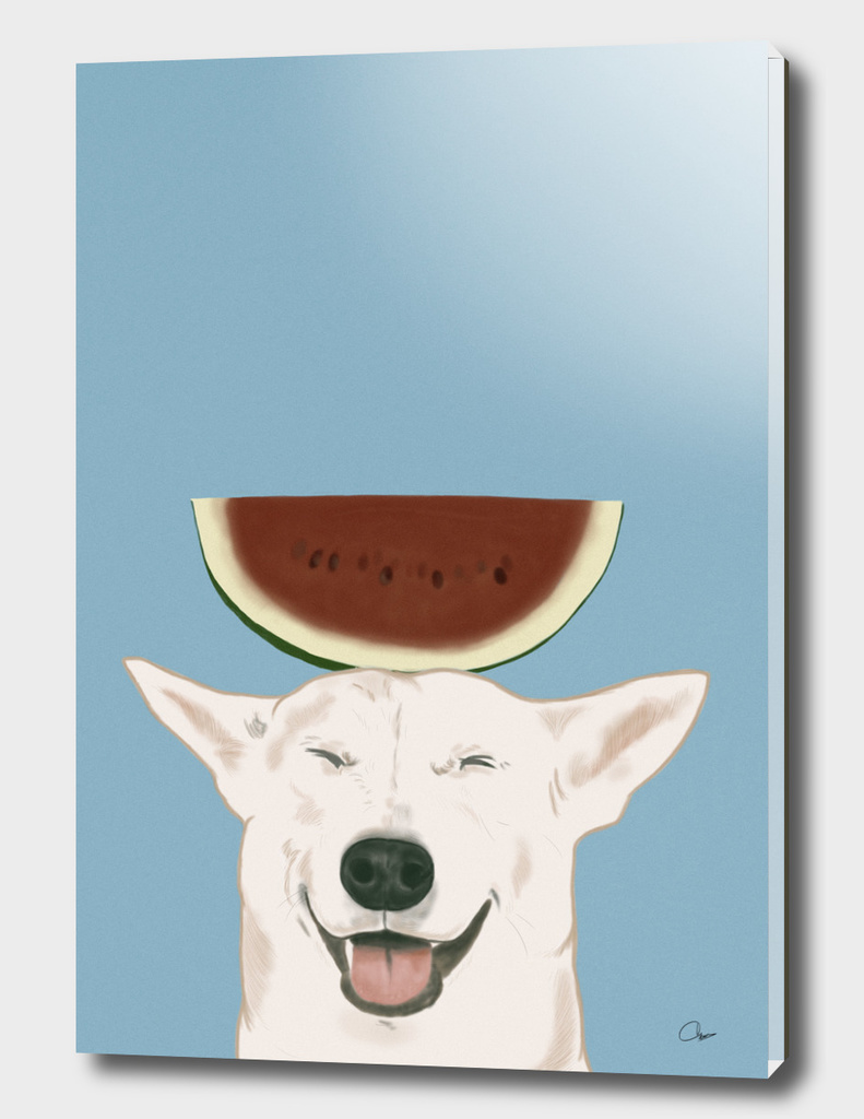 Watermelon Doggy Smile