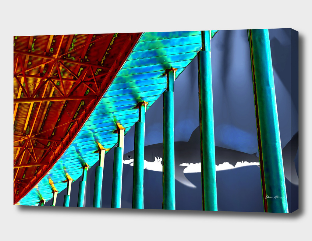 Surreal Bridge Shark Cage