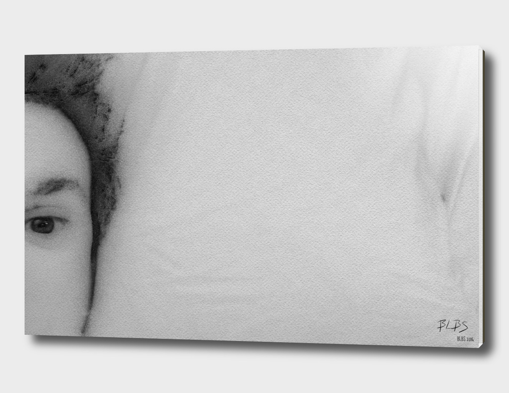 Self-Portrait on Pillow
