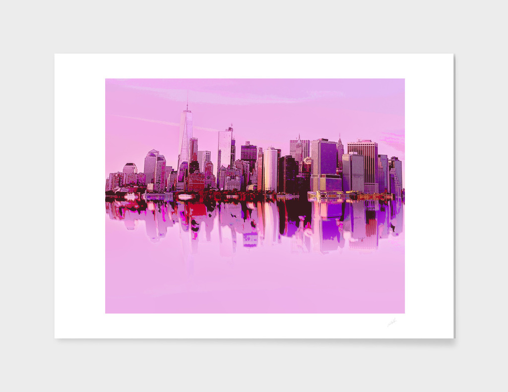 New York in Pink