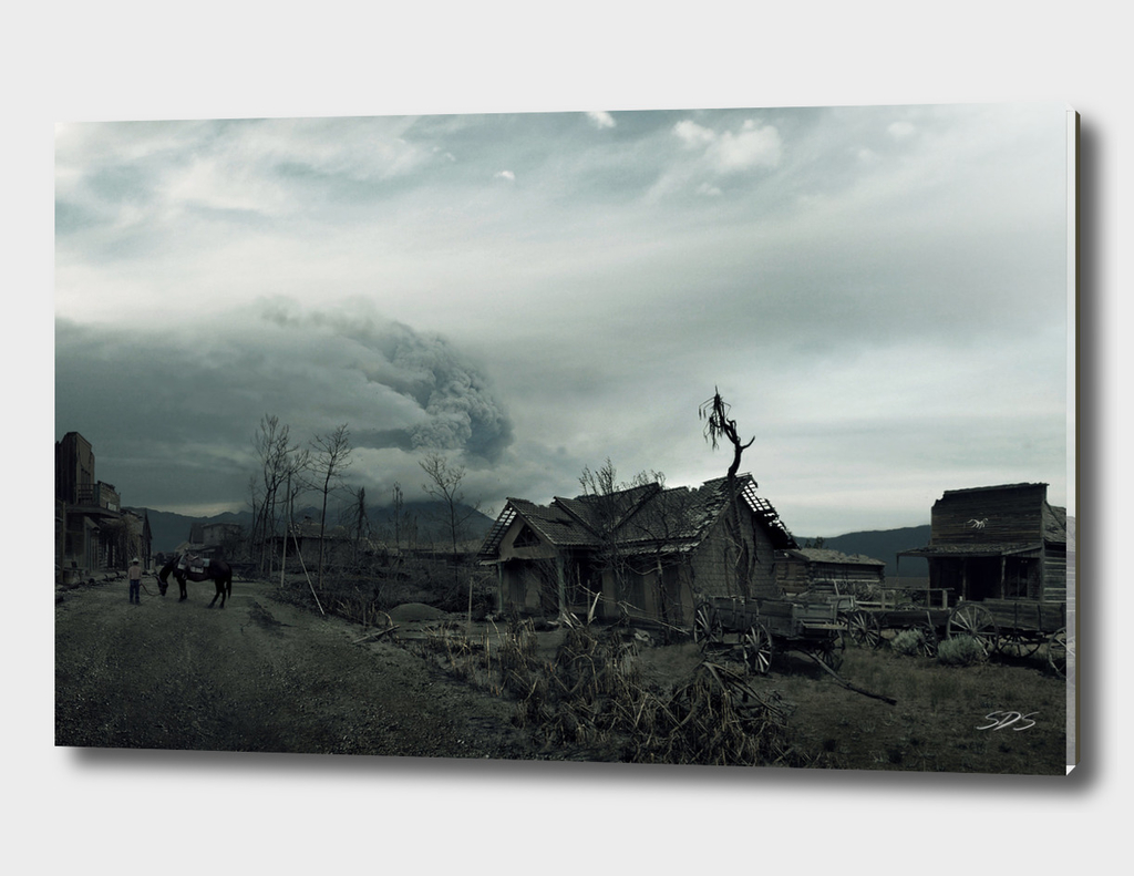 Destroyed Western City