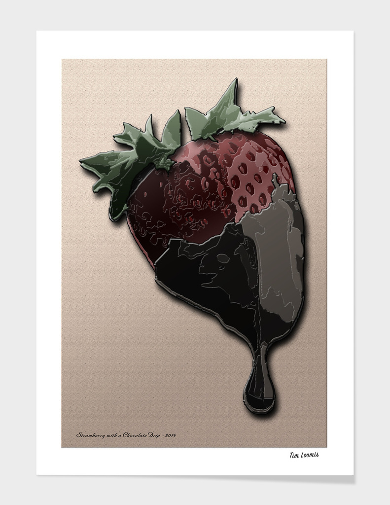 Strawberry with a Chocolate Drip