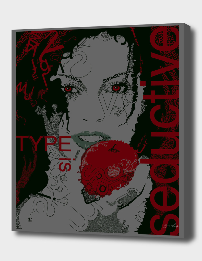 Type Is Seductive (Gray & Red)